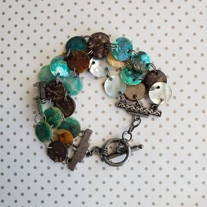 Jewelry - Coconut and Mother of Pearl Toggle Clasp Bracelet